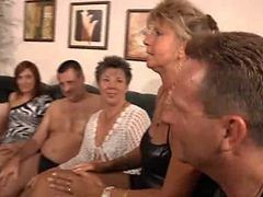 Granny, Orgy, Party, Milf, College orgy