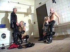 Group, Rubber, Rubber mask blowjob