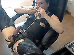 Leather, Masturbation, Jerking, Leather gay