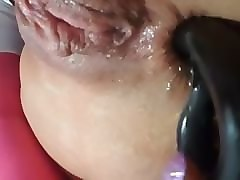 Anal, Squirt, Close Up, Wife anal beads