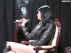 Boots, Smoking, Leather, Hardcore pounding smokeing in leather