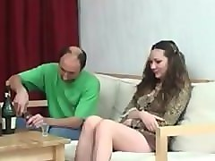 Drunk russian father fuck his daughter