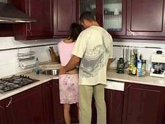 Anal, Kitchen, Indian house wife sex kitchen