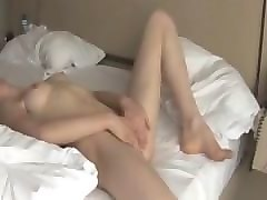 Blonde, Teen, Masturbates on street
