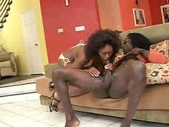 Ebony, Bus, Milf, Ebony shemale cumshots