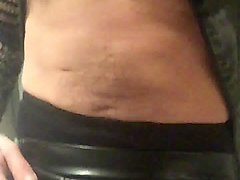 Panties, Leather, Latex, Webcam butt in leather tight pant