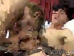 Brother caught sister and her lesbian friend and then fucked them