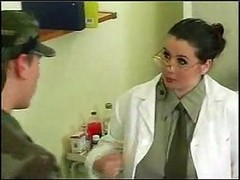 Doctor, Gangbang, Big Tits, Real female doctor examines and fuck male patient
