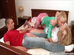 Blonde, Cute, Cute asian teen fucked by old dude part5