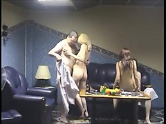 Russian, Sauna, Russian girls eating creampie