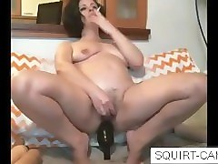 Bottle, Ass, Squirt, Solo shemale anal gape bottle