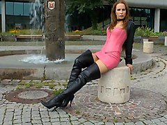 Boots, Black, Leather, Latex piss lesbian leather pee