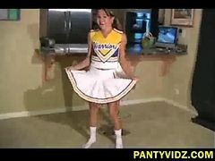 Asian, Panties, Cheerleader, Oops no panty hd