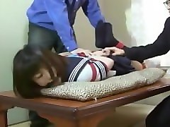 Gagging, Tied, Uncensored japanese schoolgirl medical