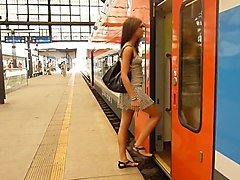 Flashing, Train, Japanese girl fuck in the train video by uncle