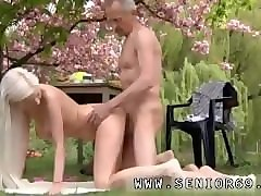 Public, Old Man, Brutal gay anal pain crying first time monster cock