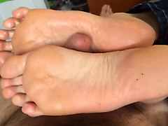 Amateur, Footjob, Real amateur black milf picked up by white boy