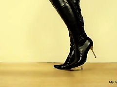 Boots, Heels, Cumshots bondage crossdresser high heels