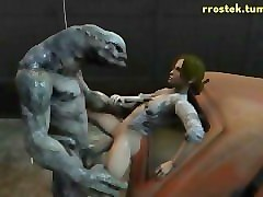 3D, 3d monster sucking tits