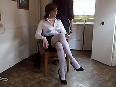 Tied, Wife tied up and women makes love to her