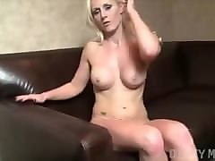Blonde, Full frontal shaved pussy