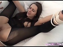 Anal, Stockings, Creampie, Milf, First orgasm tied