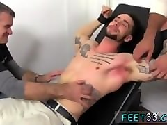 Tied, Sadistic master gay slave tied outside