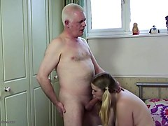 Japanese son fucked fathers wife in front