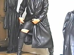 Leather, Leather gloves femdom boss