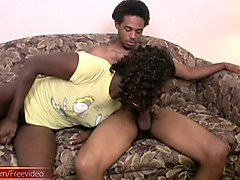 Ebony, Ass, Shemale, Facial, Sexy ebony shemale sucks huge cock for cumshot
