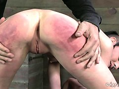 Babe, Tied, Brunett girl captured stripped and fucked hard