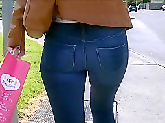 Jeans, Leather, Ass, Tight, Indian desi sexy girl in toilet