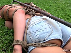 Babe, Tied, Japanese tied electro shock massage