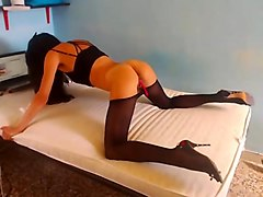 Black, Panties, Pantyhose, Squirt, Wife masturbation and squirting