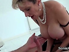 Milf, Aunt, Big Tits, Lady sonia huge squirting bondage orgasms!