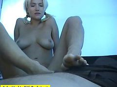 Wife, Footjob, Amateur wife comes home to give husband sloppy seconds