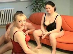 Chubby, Fisting, Threesome, Clothed lesbian threesome with pee