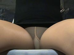 Panties, Crossdresser, Upskirt, Pantyhose, Young woman groped and molested in train uncensored