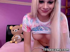 Blonde, Vibrator, Latin half-brother and sister on webcam
