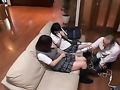 Japanese schoolgirls tongue in asshole uncensored