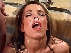 Cumshot, Wife takes it up the ass
