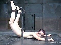 Tied, Redhead, Asian girl tied up on the bed oil