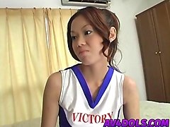 Asian, Cheerleader, Insertion, Ice creame insert in pussy