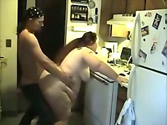 Kitchen, Agrees to get fucked by a stranger creampie
