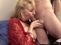 French, Milf, Blond mature milf in