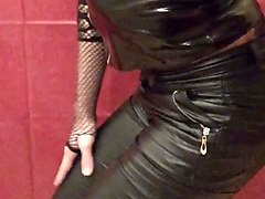 Black, Panties, Leather, Pantyhose, Babe fart ,massturbed leather pants miss sixty wichsen