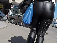 Panties, Leather, Ass, Tight, Asian girl leather pants