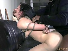 Slave, Tied, School girls lined up and fucked