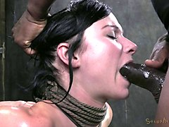 Black, Tied, Sister tied up handjob