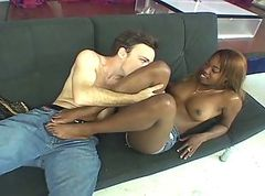 Ebony, Footjob, Daddy footjob gay